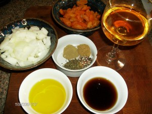 spices wine apricots